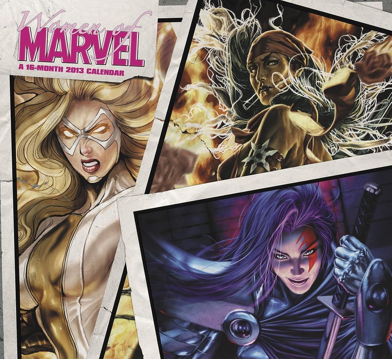 発明愚か意義Women of Marvel 2013 Calendar