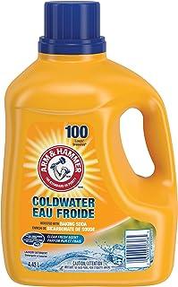 ARM & HAMMER Coldwater Liquid Laundry Detergent, Clean Fresh Scent, 100 Loads, 4.43-L