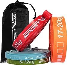 SportVida Fitnessbandenset en single - optrekbanden rubber - stretchband fitness - weerstandsbanden - trainingsbanden krac...