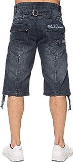 New Mens ENZO Jeans Denim Spring Summer Blue Dark Shorts Waist Size 28-48