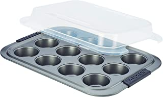 Anolon Advanced Nonstick 12-Cup Muffin Tin With Silicone Grips and Lid / Nonstick 12-Cup Cupcake Tin With Silicone Grips a...