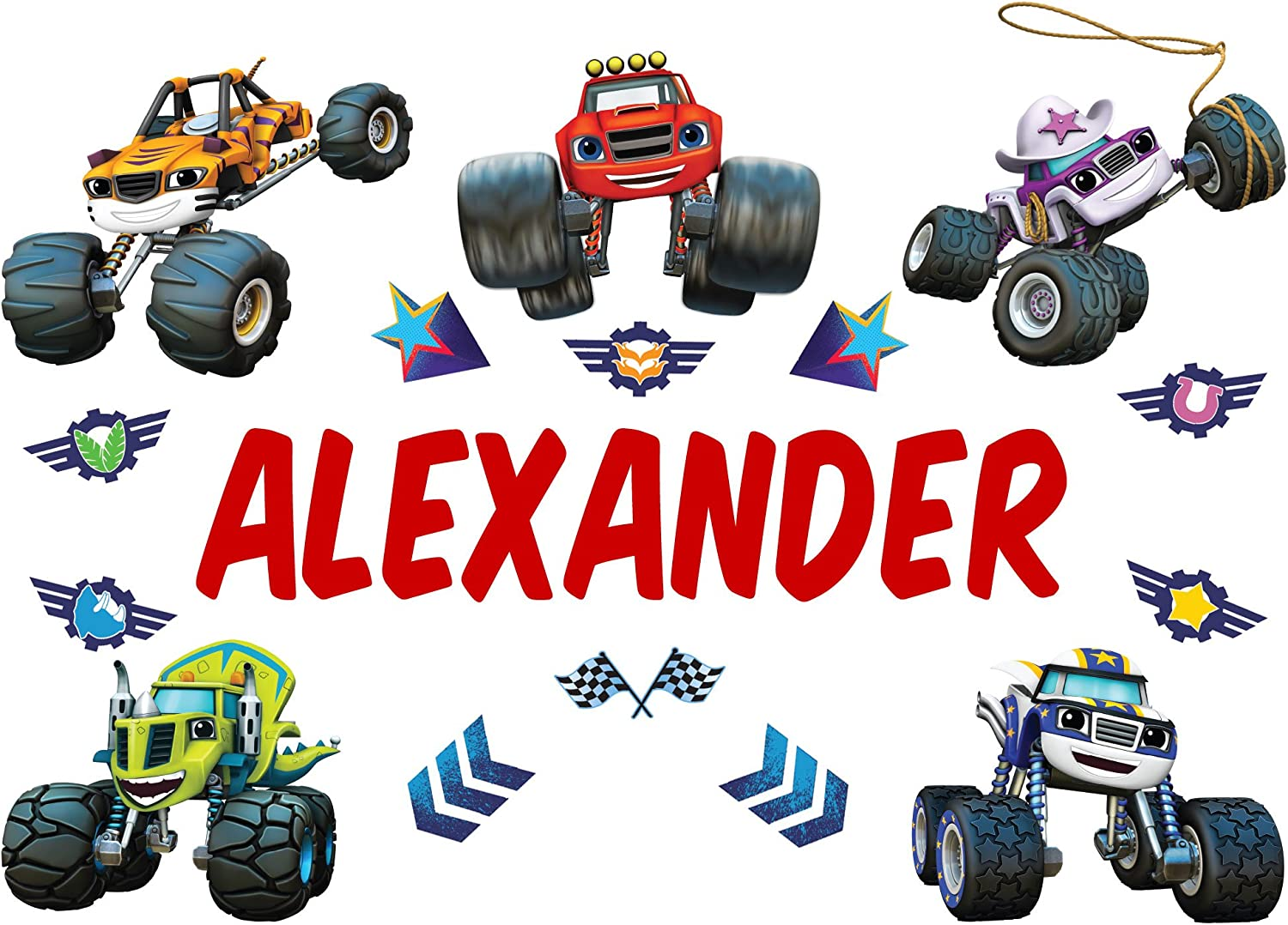 Oliver's Labels Personalized Blaze and Kids Max 53% OFF Machines Monster free The