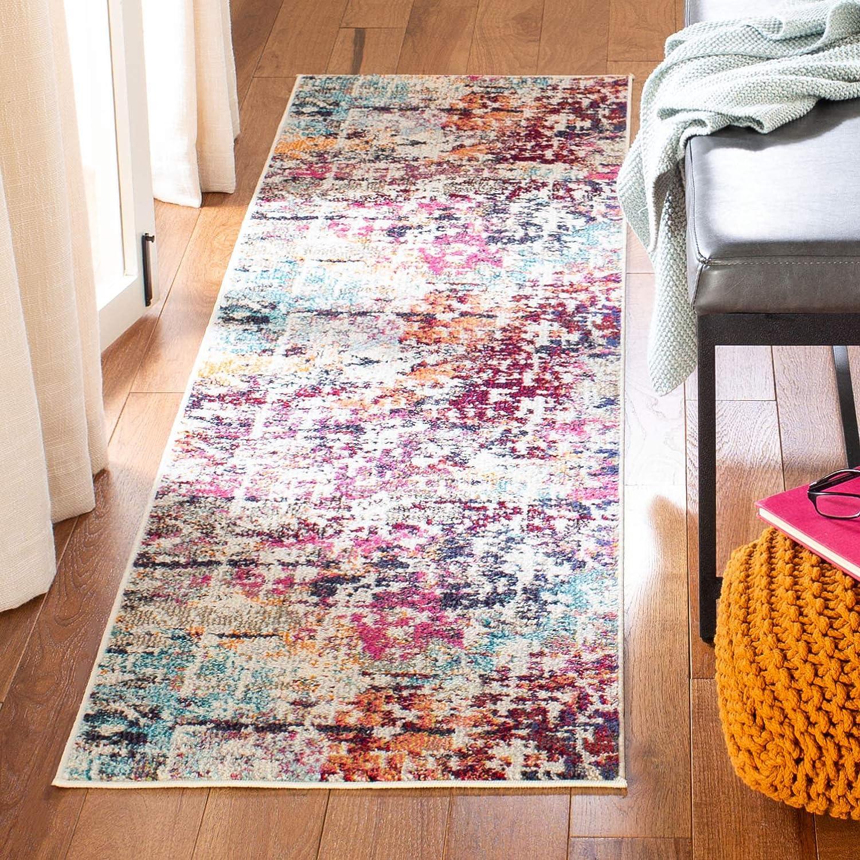 Safavieh Madison Collection オンラインショップ MAD458C Modern 定番スタイル Abstract Non-Shedding
