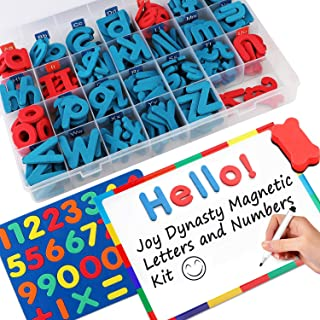 237 Pcs Magnetic Letters and Numbers with Magnetic Board and Storage Box - Uppercase Lowercase Foam Alphabet Letters for F...