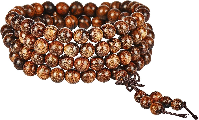 anzhongli Mala Beads Bracelet Necklace for Men Women 6mm/8mm 108