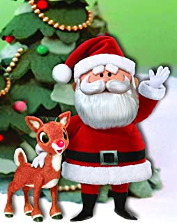The Jigsaw Puzzle Factory Rudolph The Red Nose Reindeer Rudolph & Santa Puzzle Kids Games for 12+ Age, 300Piece Jigsaw Puzzle, 100% Biodegradable