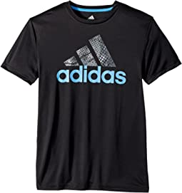 adidas Kids - Short Sleeve Pattern Fill Logo Tee (Big Kids)