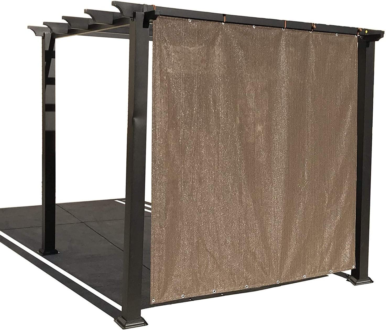 Alion Home Sun Shade Privacy Panel with Grommets on 2 Sides for Patio, Awning, Window, Pergola or Gazebo - Mocha Brown (10' x 8')