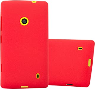 Cadorabo Case Works with Nokia Lumia 520 in Frost RED – Shockproof and Scratch Resistant TPU Silicone Cover – Ultra Slim Protective Gel Shell Bumper Back Skin