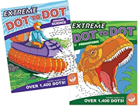 Amazing Science and Prehistoric Extreme Dot to Dot Books: Set of 2