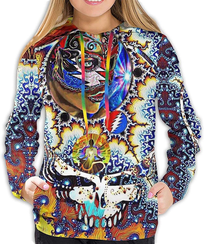 ZHTT Gra-teful Dead Hippie Tie Very popular! Dye Hoodie Pullover Oklahoma City Mall Fashion Skull