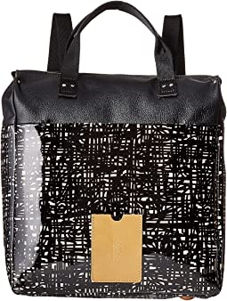 Orla Kiely - Texture Stem Leather Backpack