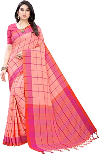 Women s Cotton silk Saree With Blouse Piece GOOGLE Free Size