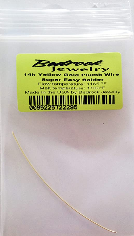 14k Yellow Gold Plumb Wire Solder, 24 Ga, S. Easy, 3 Inches, Made in US l013394355