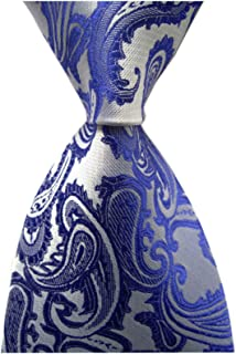 Men's Paisley Ties Jacquard Woven Handmade Unique Designer Neckties