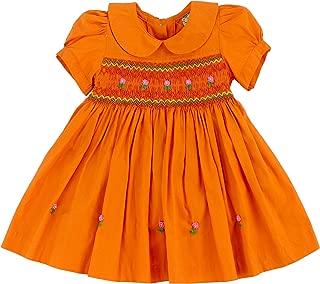 smocked pumpkin dress