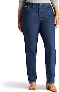 بنطلون جينز نسائي كبير من LEE بمقاس مريح يناسب الخصر المرن