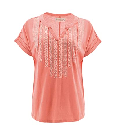 Aventura Clothing Forlani Short Sleeve (Burnt Coral) Women