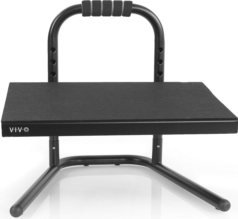 VIVO Regular store Black Ergonomic Height Adjustable Standing Relief Foot Rest Max 62% OFF