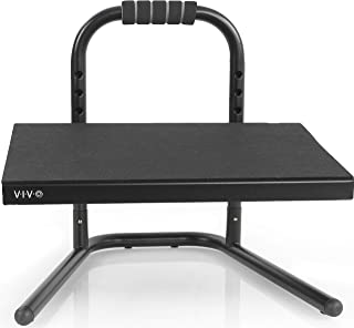 VIVO Black Ergonomic Height Adjustable Standing Foot Rest Relief Platform for Standing Desks STAND-FT01