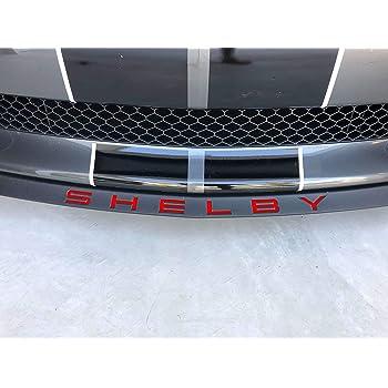 Shelby GT350 Front Splitter Lip Spoiler Letters XPLORE OFFROAD Reflective White 2015-2018