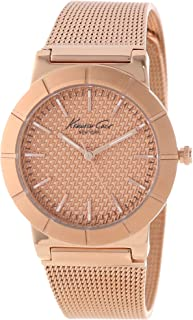 Kenneth Cole New York Women's Quartz Stainless Steel Case Stainless Steel Strap Rose Gold,(Model:KC4908)