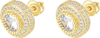 18K Gold Plated 925 Sterling Silver Iced Out Cubic...