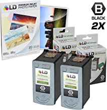 LD Remanufactured Ink Cartridge Replacement for Canon PG-40 0615B002 (Black, 2-Pack)