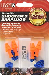 Howard Leight by Honeywell R-01520 Smart Fit Corded Multiple-Use Ear Plugs, Orange with Blue Cord, 2-Pair