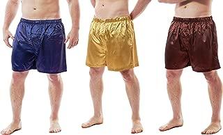 Up2date Fashion Men's Satin Boxer Shorts, Set of 3, Style-MCS01-A