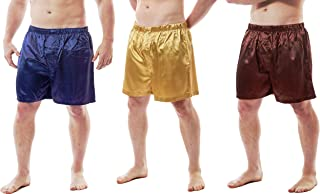 Up2date Fashion Men's Satin Boxer Shorts, Set of 3, Style-MCS01-A
