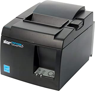 Star Micronics TSP143IIILAN Ethernet (LAN) Thermal Receipt Printer with Auto-cutter and Internal Power Supply - Gray (Renewed)