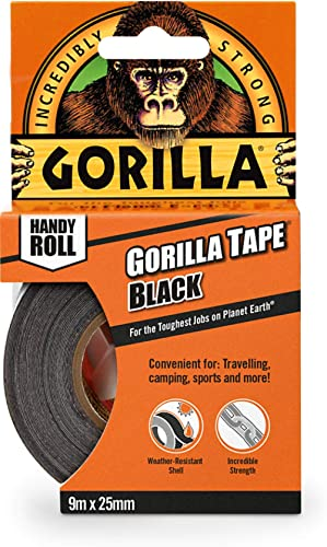 Gorilla Glue 3044401 Gorilla Duct Tape Black 9.14 m, Black
