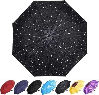 YumSur Parapluie Pliant, Automatique Ouverture et Fermeture Résistant à Tempête Compact Léger Parapluie de Voyage pour Hom...