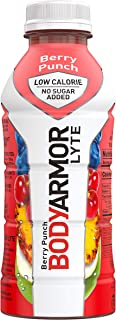 BODYARMOR LYTE Sports Drink Low-Calorie Sports Beverage, Berry Punch, Natural Flavors With Vitamins, Potassium-Packed Electrolytes, No Preservatives, Perfect For Athletes, 16 Fl Oz, Pack of 12