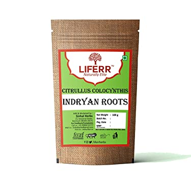 LIFERR Indrayan Roots   Citrullus Colocynthis Roots   Bitter Apple   Makal   Ghorumba   Panjot   200g