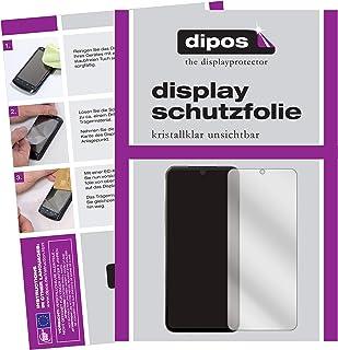 dipos I 6X skyddsfolie klart kompatibel med LG V60 ThinQ 5G folie skärmskydd (medvetet mindre än glaset eftersom den är böjd)