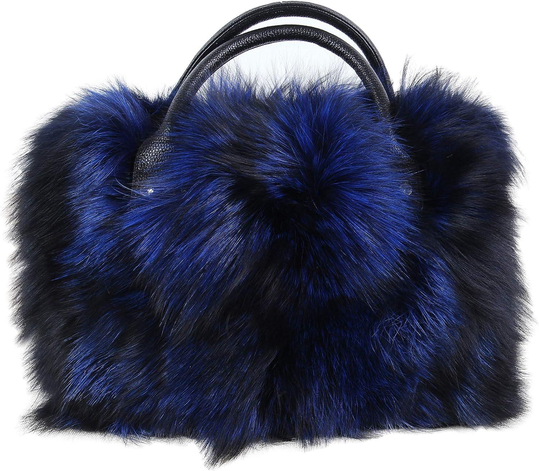 New fox fur handbag Korean version of the shoulder diagonal ladies bag plush bag