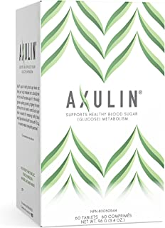 Axulin® Supports Healthy Blood Sugar (Glucose) Metabolism & Helps to Metabolize Carbohydrates & Fats. Support for Diabetes, PreDiabetes, Metabolic Syndrome, Glucose Intolerance, Insulin Resistance