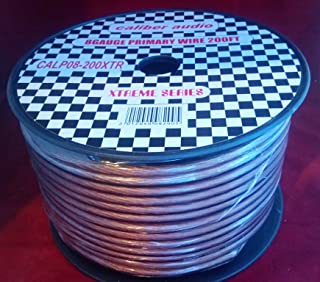 8 ga 200 ft Grey quality flexible power cable for 12V 8ga req audio system and accessories installation