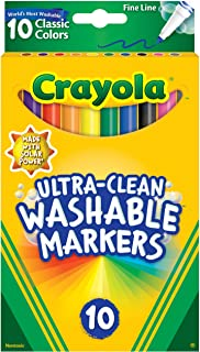 10ct Ultra-Clean Fineline Markers ,washable, detail drawing, pens, colouring, fun, gifts, education, project, booklist, cl...