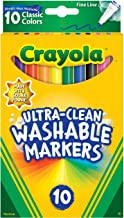 CRAYOLA 58-7852 10ct Ultra-Clean Fineline Markers ,washable, detail drawing, pens, colouring, fun, gifts, education, proje...