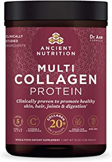 Ancient Nutrition - Multi Collagen Protein Powder - Pure, Collagen Peptides formulated by Dr. Josh Axe, Gluten Free, Made ...