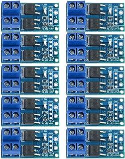 10個入り DC 5V-36V 15A (最大30A) 400W デュアルハイパワー MOS トランジスタ ドライビングコントローラモジュール FET トリガースイッチドライブボード 0-20KHz PWM 電子スイッチコントロールボード DC...