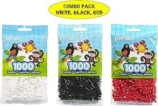 Perler Beads Bead Bag, White (White-Black-Red) (Original Version) (Original Version)