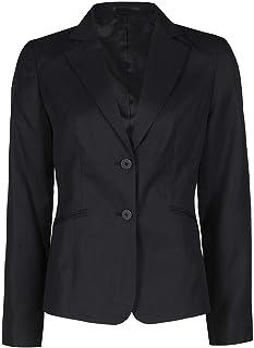 Metzuyan Womens Ladies Plain Formal Blazer Suit Jacket Officewear Workwear Two Button Up