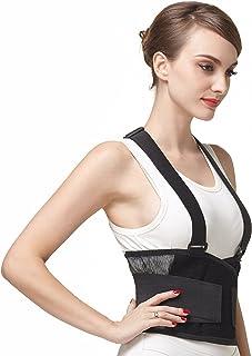 comprar comparacion Faja para la espalda con tirantes, apoyo lumbar, cinturón de culturismo/halterofilia, entrenamiento, seguridad en el traba...