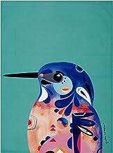 Maxwell & Williams Pete Cromer Azure Kingfisher Design Tea Towel, Multicolor, 70 x 50 cm