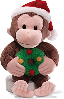 "GUND Curious George Christmas 12"" Plush"