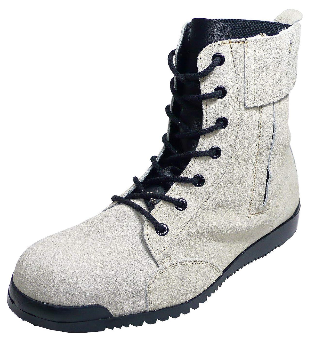 定常親密なサイレンみやじま鳶安全靴 踏み抜き防止鉄板入 JIS規格品 八分丈 Nosacks